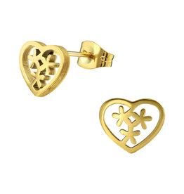 Precious jewels precious jewels oorbellen hartje sterretje goudkleurig
