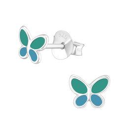 Precious jewels precious jewels oorbellen vlinder groen en blauw