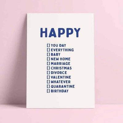 Studio inktvis kaart a6 studio inktvis: HAPPY ...