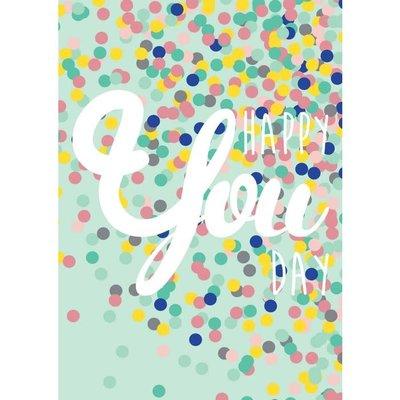 Studio inktvis kaart a6 studio inktvis: happy YOU day