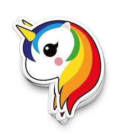 studio inktvis stickers XL unicorn