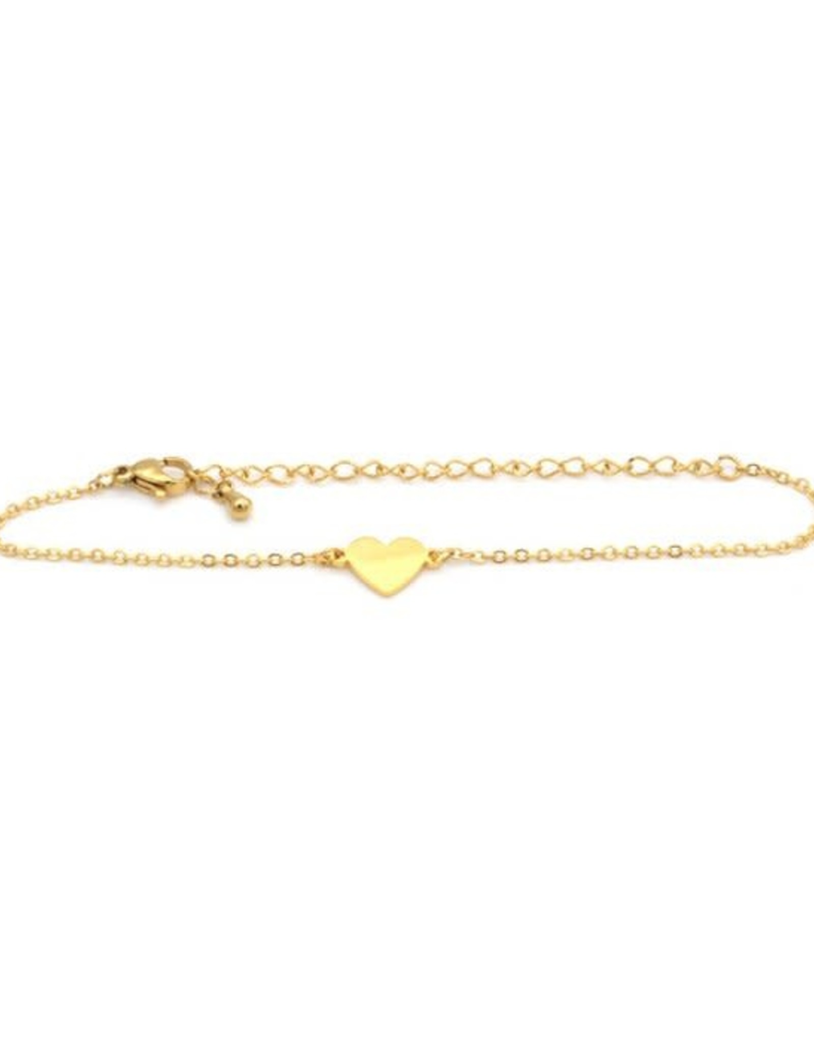 Birambi Birambi armbandje heart goud
