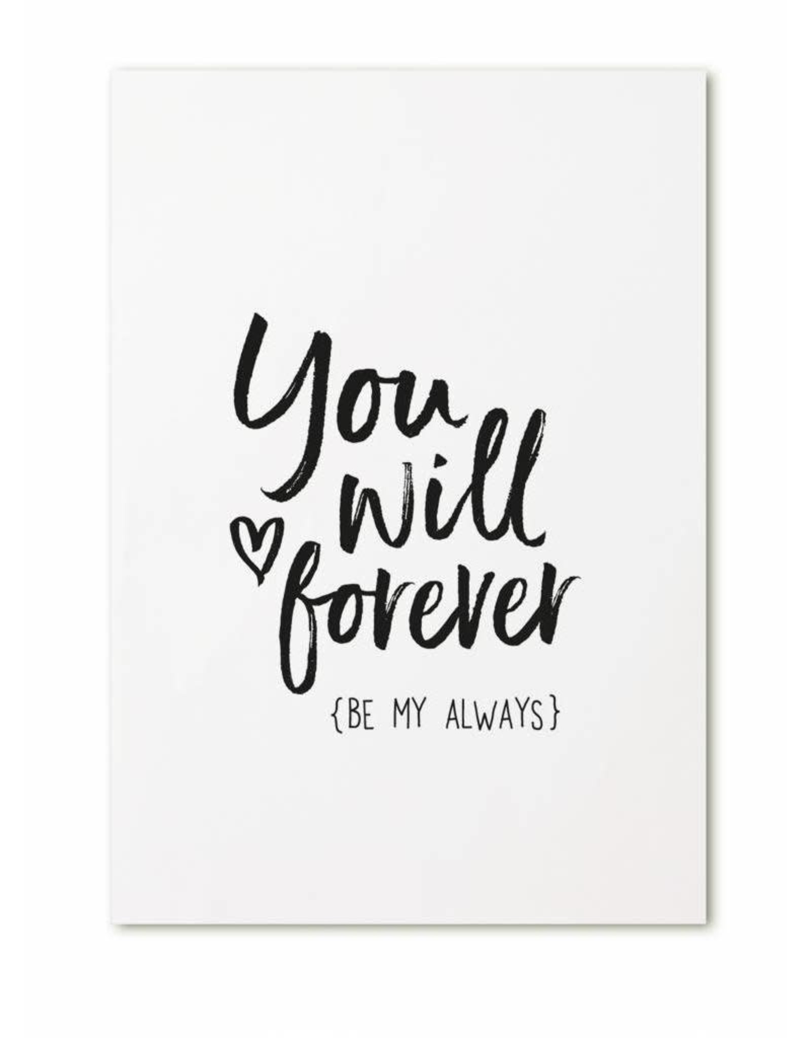 zoedt kaart a6 Zoedt: You will forever (be my always)