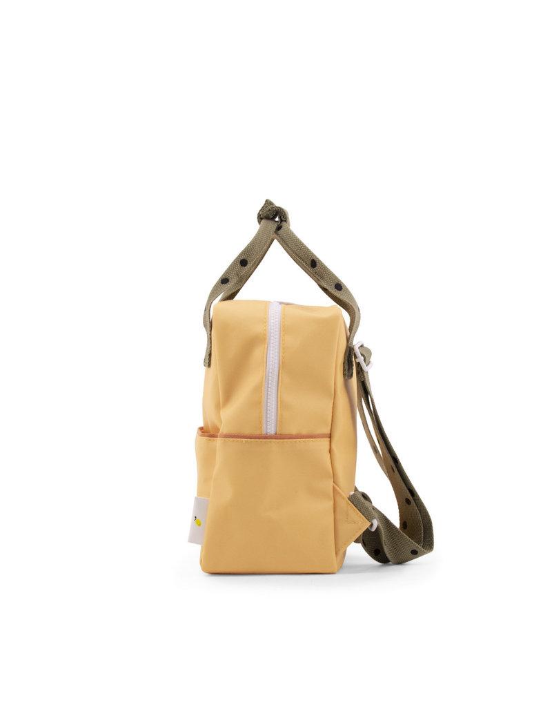 Sticky Lemon Sticky lemon:  Small backpack freckles  retro yellow + seventies green + faded orange