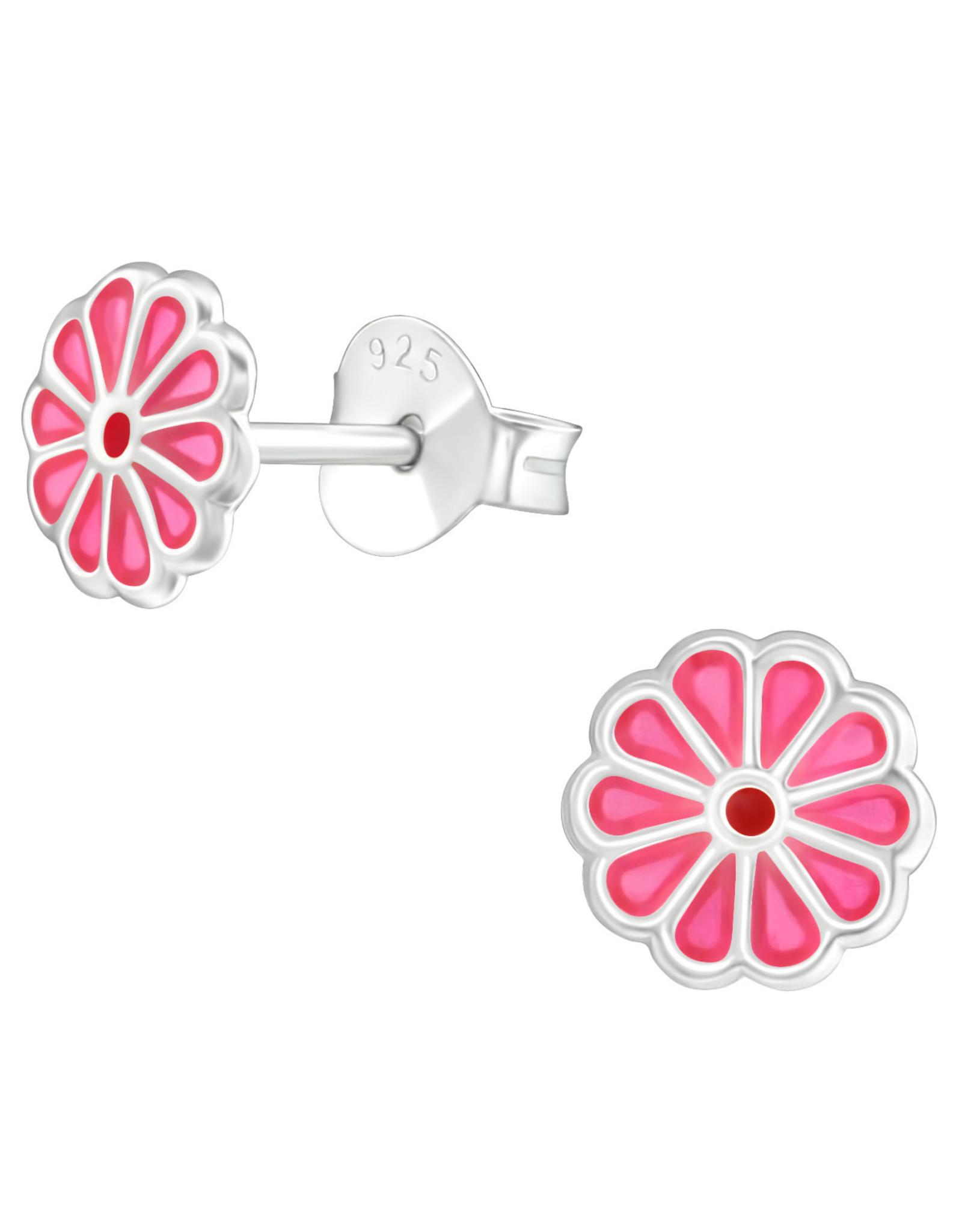 Precious jewels precious jewels oorbellen bloemetje roze