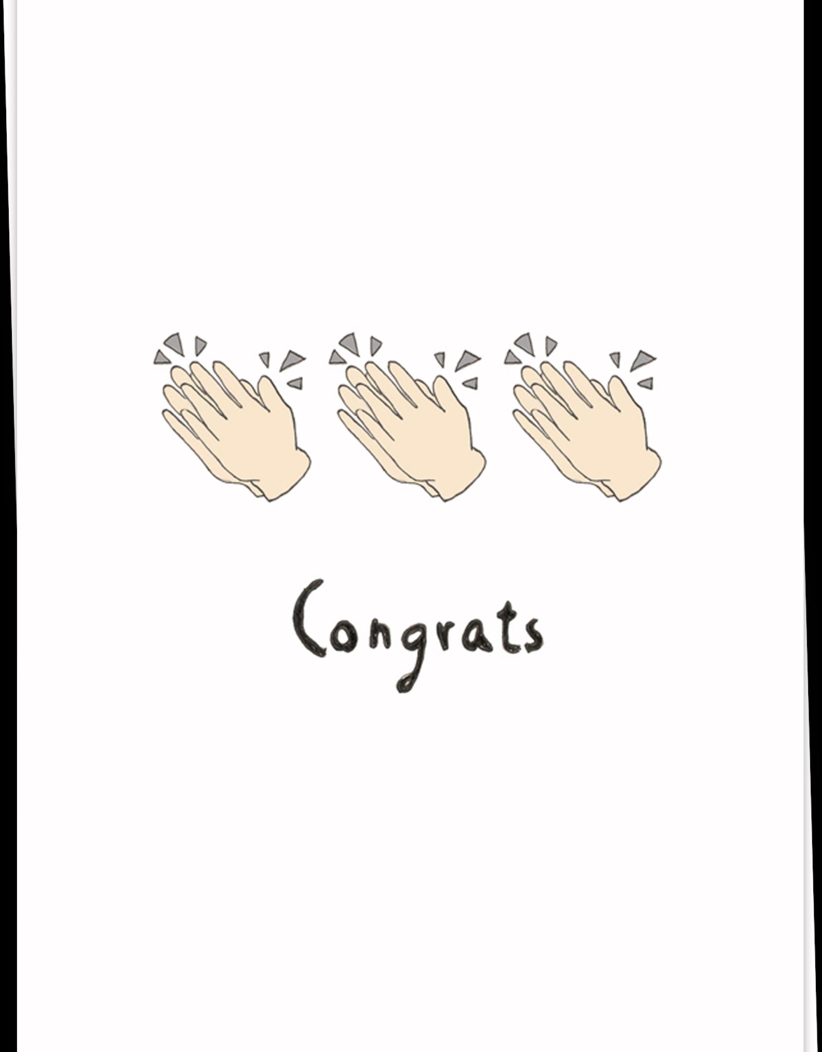 kaart Blanche Kaart Blanche: kaart a6 + envelop Congrats