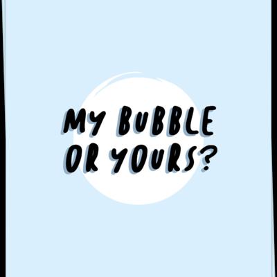 Kaart Blanche Kaart Blanche: kaart a6 + envelop my bubble or yours?