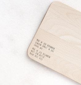 gewoon jip Gewoon JIP Houten serveerplankje met  tekst – Mag ik jou bedanken