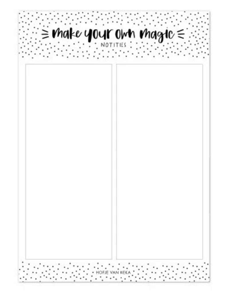 Hofje van Kieka Hofje van Kieka: Notities A5 | Make your own magic