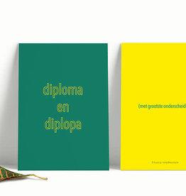 de post op De post op: kaart A6  diploma en diplopa
