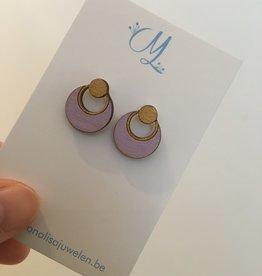 mona lisa juwelen Mona Lisa Juwelen oorbellen hout 003