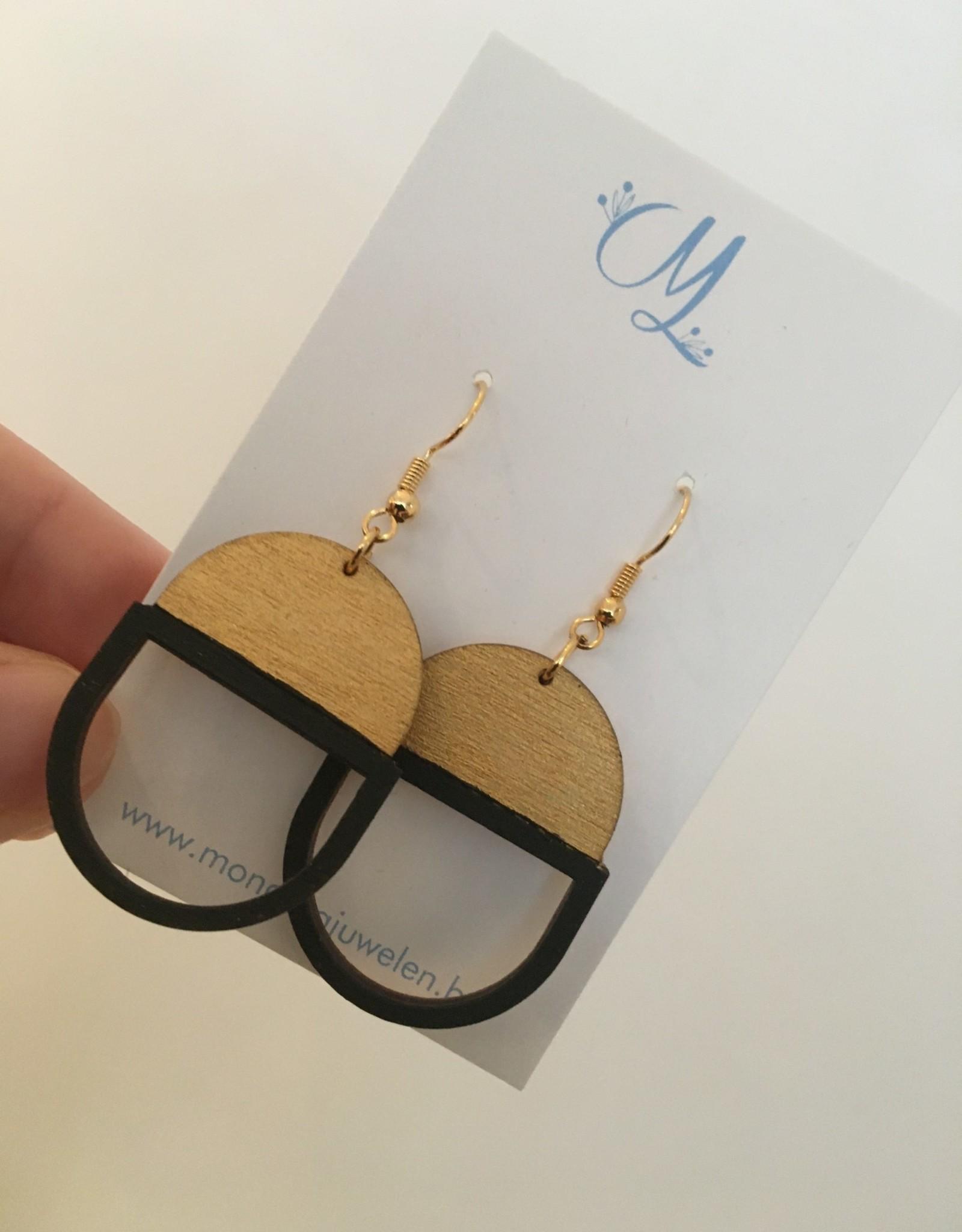 mona lisa juwelen Mona Lisa Juwelen oorbellen hout 009