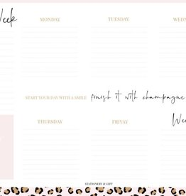 Stationery & gift Stationery & gift Weekly Planner | Pink Leopard Collection A4