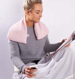 Janneke's  warmtesjaal Janneke's Warmtesjaal wafelstof roze | biologisch lijnzaad