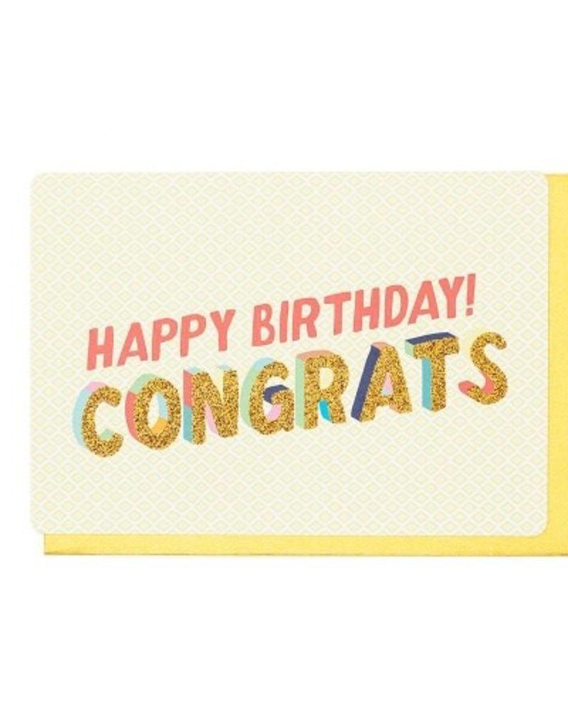 Enfant Terrible Dubbele wenskaart Enfant terrible: Happy birthday cangrats