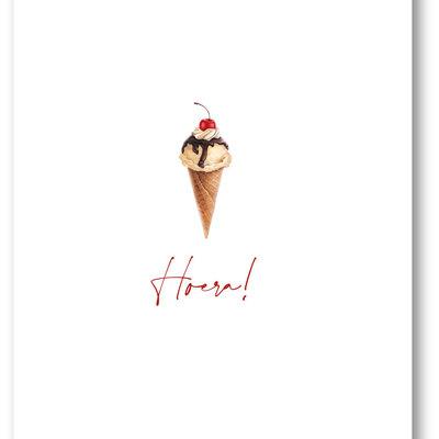 Makerij Meskens Makerij Meskens Kaartje A6: hoera! ijsje