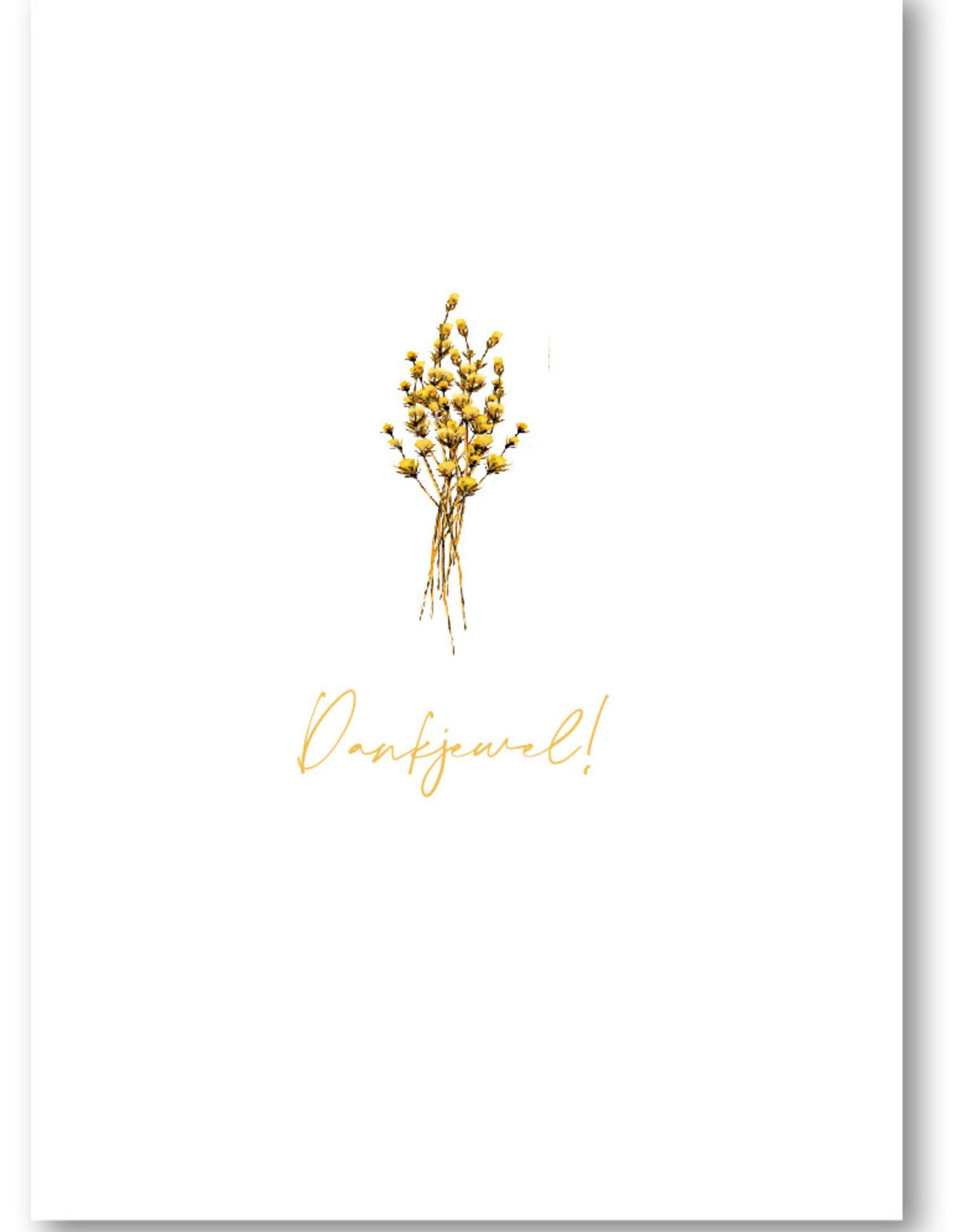 Makerij Meskens Makerij Meskens Kaartje A6: Dankjewel! droogbloemen