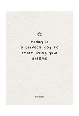 By romi By romi kaart a6 today is a perfect day to start living your dreams