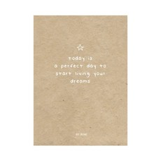 By romi By romi kaart a6 today is a perfect day to start living your dreams kraft