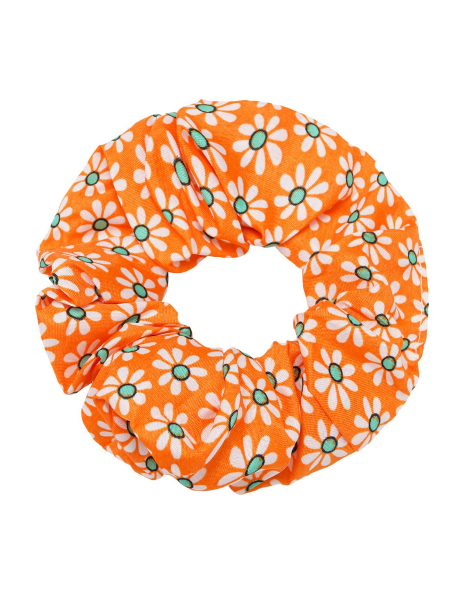Yehwang Scrunchie bloemetje oranje