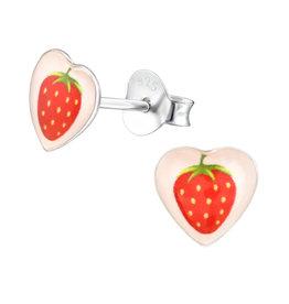 Precious jewels Precious jewels: oorstekers hartjes aardbeien