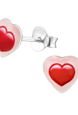 Precious jewels Precious jewels: oorstekers hartjes