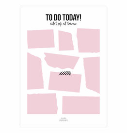 Studio stationery Studio stationery A5 Noteblock to do today pink
