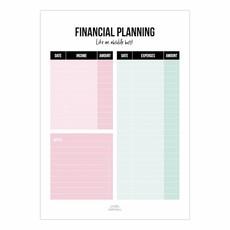 Studio stationery Studio stationery A5 Noteblock financial plan