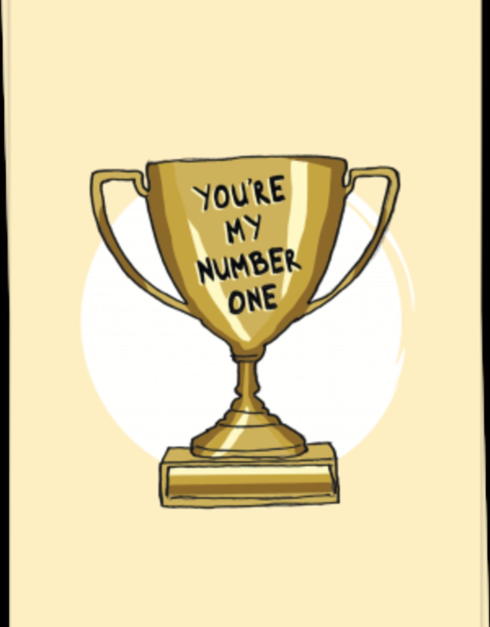 kaart Blanche Kaart Blanche: kaart a6 + envelop you're my number one