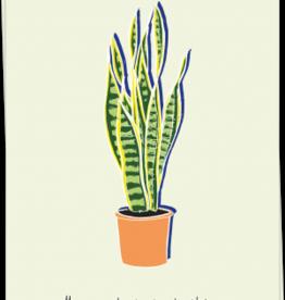 kaart Blanche Kaart Blanche: kaart a6 + envelop Have a plantastic birthday