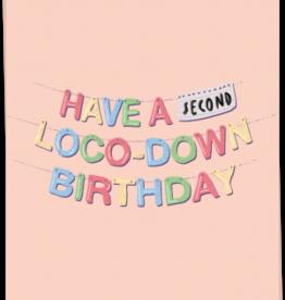 kaart Blanche Kaart Blanche: kaart a6 + envelop second loco down birthday