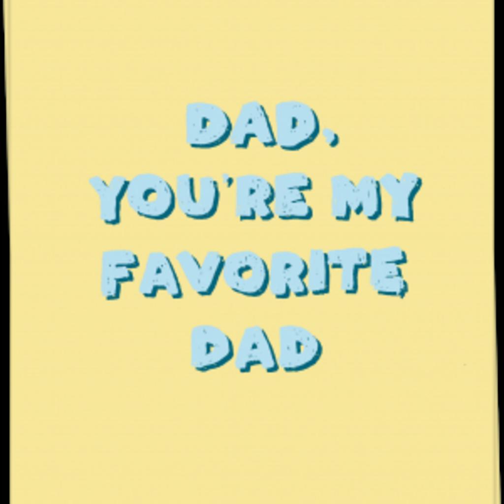 Kaart Blanche Kaart Blanche: kaart a6 + envelop fave dad