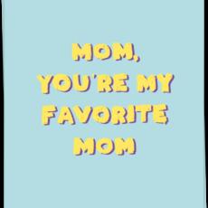 Kaart Blanche Kaart Blanche: kaart a6 + envelop fave mom