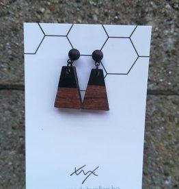 made by ellen Made by ellen oorbellen hars&hout zwart