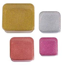 A little lovely company ALLC lunch & snackbox set: Gold blush