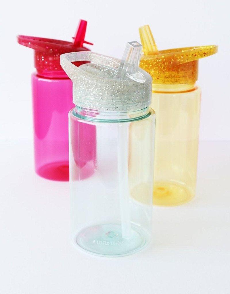 A little lovely company ALLC Drinkfles glitter zilver