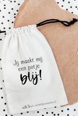 Winkeltje van Anne Winkeltje van anne Katoenen zakje   potje blij