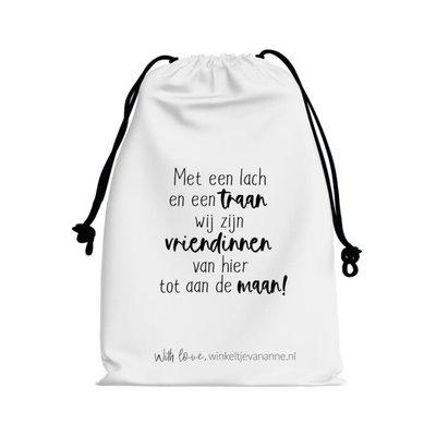 Winkeltje van Anne Winkeltje van anne Katoenen zakje   vriendinnen