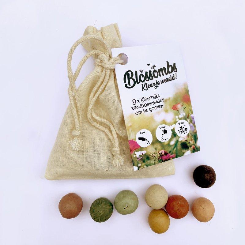Blossombs Blossombs Biologisch katoenen cadeauzakje met 8 zaadbommetjes