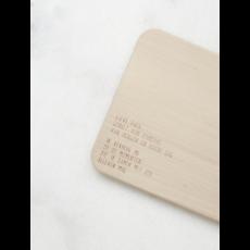 Gewoon jip Gewoon JIP Houten serveerplankje met  tekst –  Wil jij mijn meter zijn?