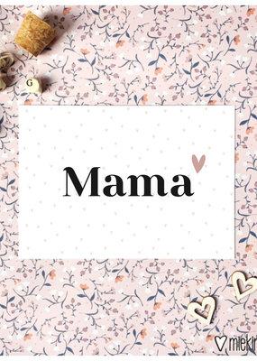 Miek in vorm kaart a6 miek in vorm: mama