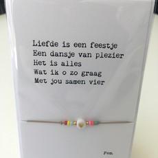 Papierpleziertjes Papierpleziertjes - armbandplezier - Liefde is een feestje