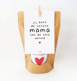 By romi Moederdag / Wenskaars / Kraft zak / Jij bent de liefste mama van de hele wereld