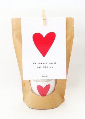 By romi Moederdag / Wenskaars / Kraft zak / De liefste mama dat ben jij