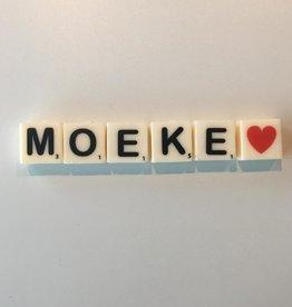 The gift label: kaarsjes MOEKE