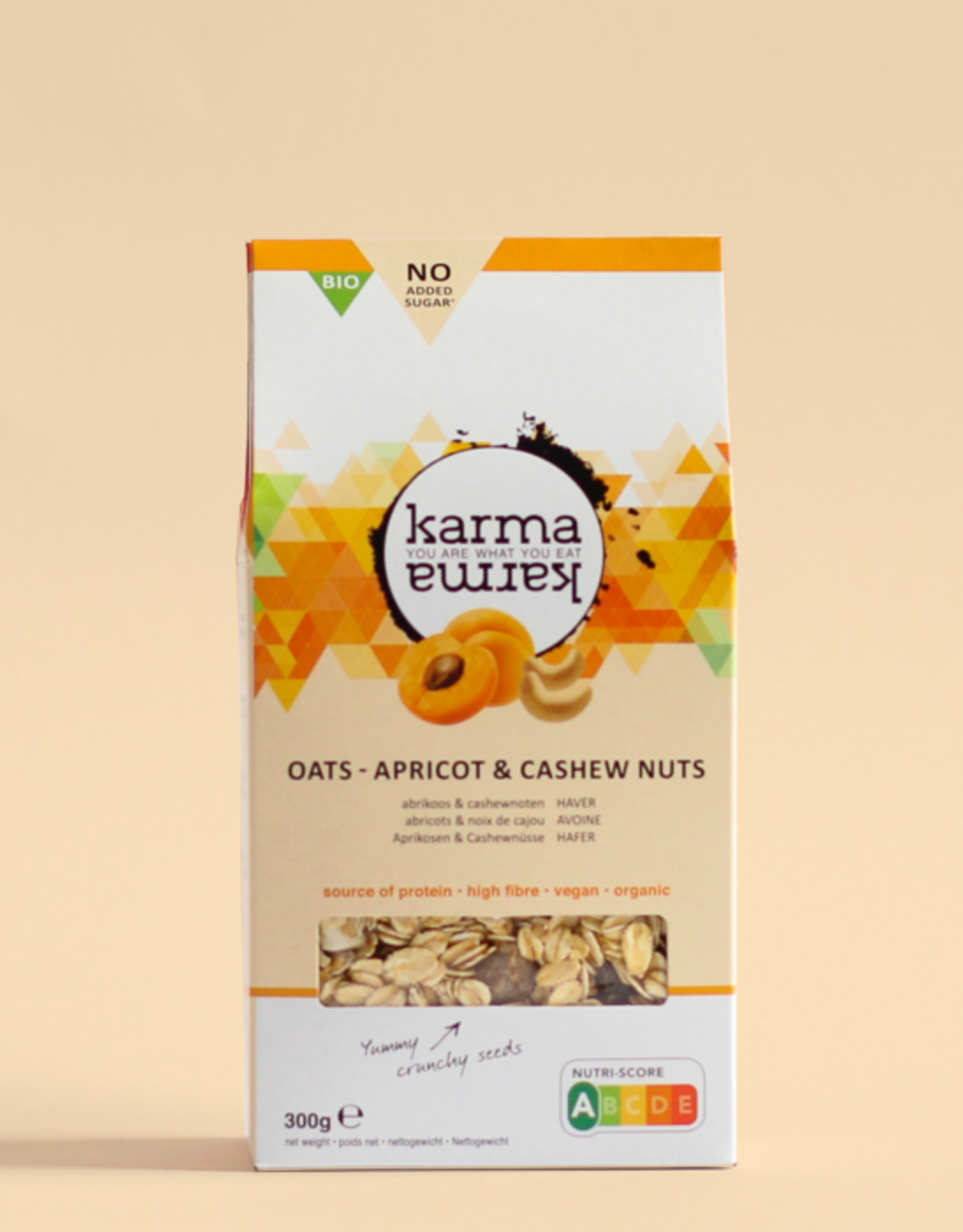 Karma karma karmakarma oats ABRIKOOS & CASHEW NOTEN bio haver zakje