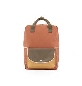 Sticky Lemon Sticky lemon large backpack wanderer | faded orange + seventies green + retro yellow