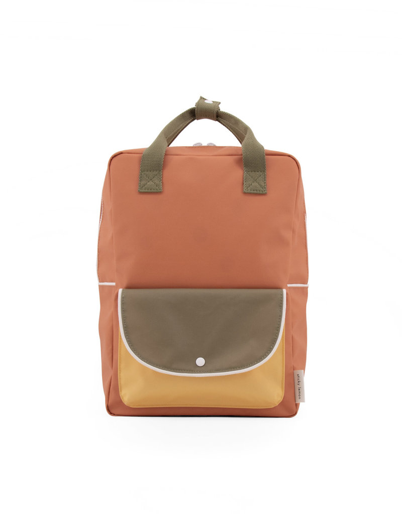 Sticky Lemon Sticky lemon large backpack wanderer   faded orange + seventies green + retro yellow