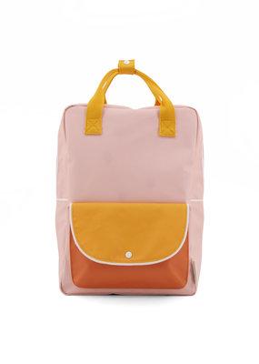 Sticky Lemon Sticky lemon large backpack wanderer  candy pink + sunny yellow + carrot orange