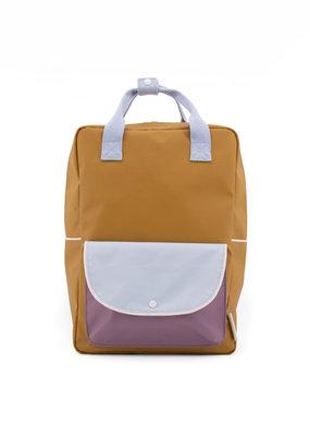 Sticky Lemon Sticky lemon large backpack wanderer  caramel fudge + sky blue + pirate purple